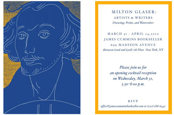 Milton Glaser : Artists & Writers - An Exhibition of Drawings, Prints, & Watercolors