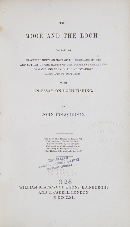 The Moor and the Loch: Containing Practical Hints on Most