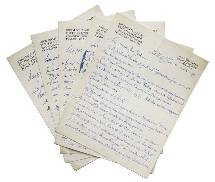 Image 1 Of For A Collection 5 Autograph Letters Signed Buber