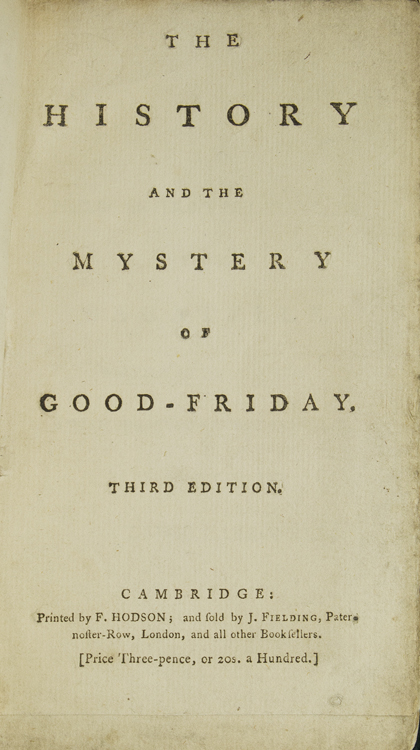 The History and the Mystery of Good-Friday. Lewis Carbonell.