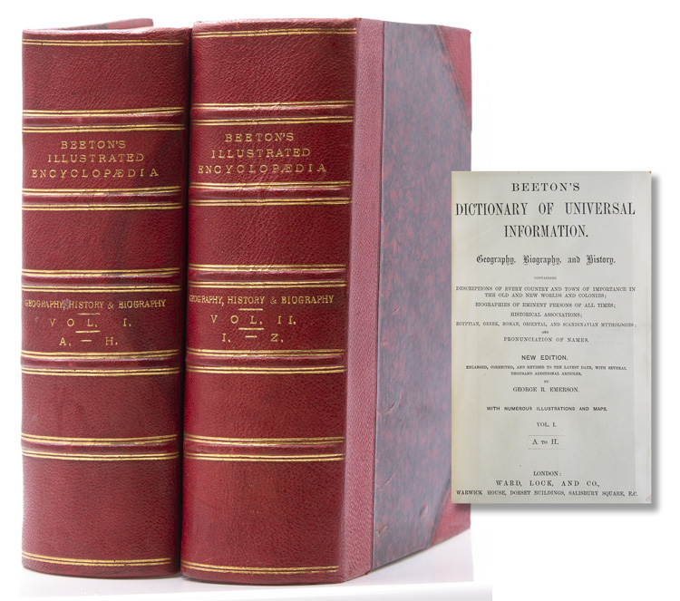 Beeton's Dictionary of Universal Information. Georaphy, Biography, and History. [and] Beeton's… Science, Art, and Literature. S. O. Beeton, compiler.