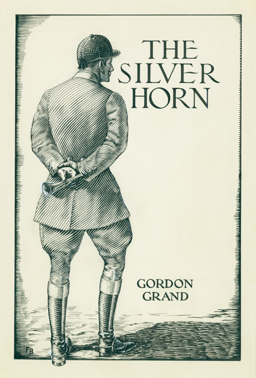 THE COMPLETE SET OF 4 ORIGINAL DRAWINGS FOR THE FIRST TRADE EDITION OF THE SILVER HORN. Ralph Boyer.