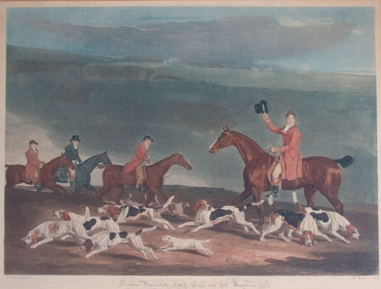 Francis Dukinfield Astley and his Hounds. Ben Marshall.