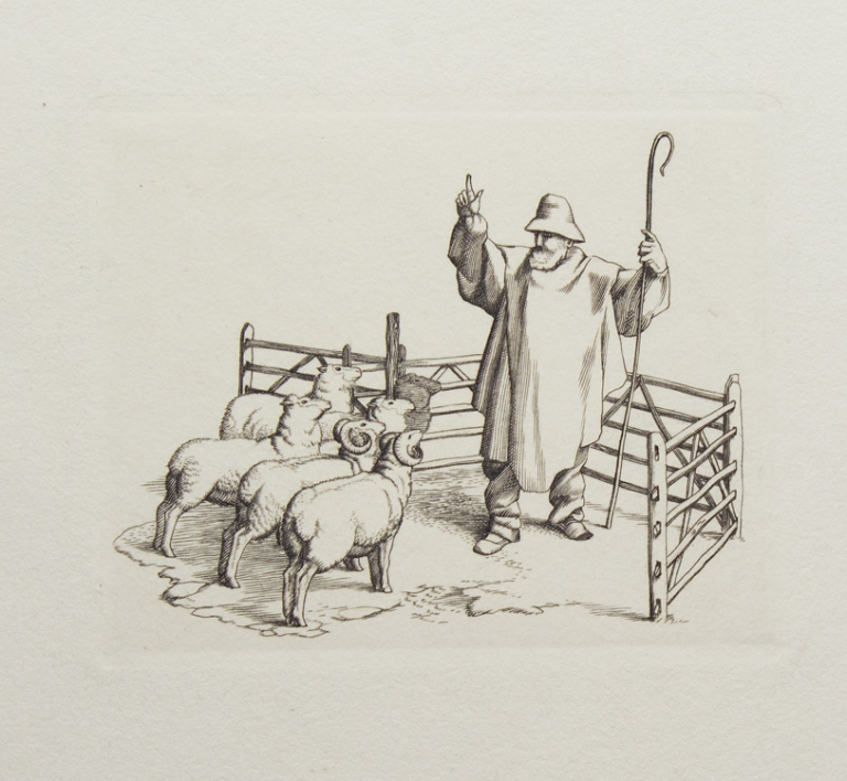 The Fables of Jean de la Fontaine: The Shepherd and His Flock. Stephen Gooden.