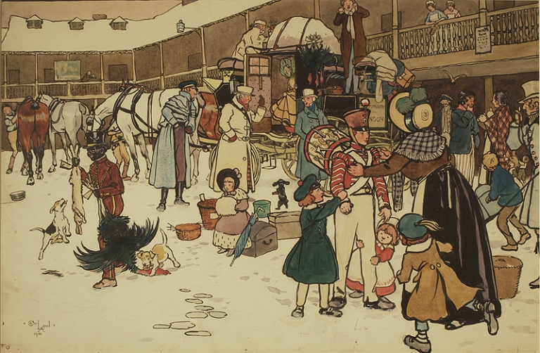 The Stage Coach. Cecil Aldin.