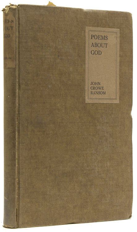 Poems about God. John Crowe Ransom.