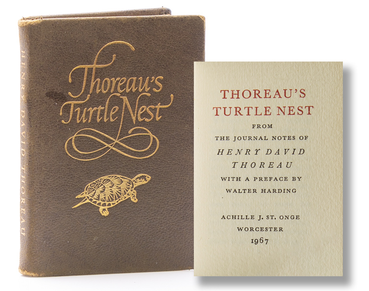 Thoreau's Turtle's Nest from the Journal Notes of ... with a Preface by Walter Harding. Miniature Book, Henry David Thoreau.