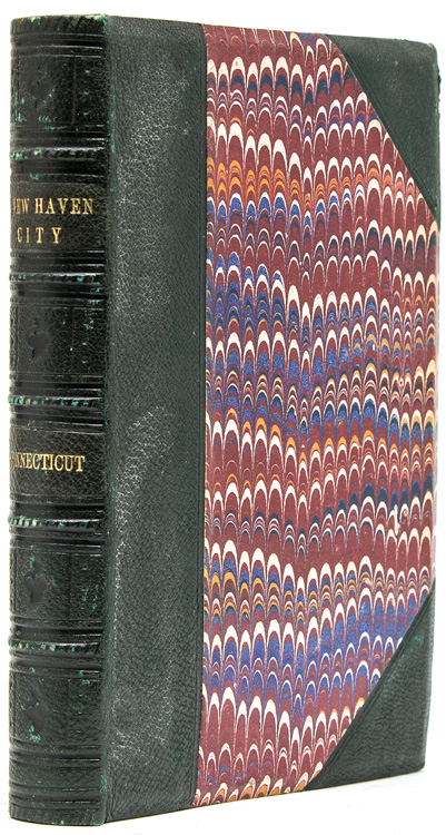 The Attractions of New Haven, Connecticut: a guide to the city. With map and illustrations. [Bound with:] STURGIS, Russell, Jr. Manual of the Jarves Collection of early Italian pictures, deposited in the galleries of the Yale School of Fine Arts. Being a catalogue, with descriptions of the pictures contained in that collection, with biographical notices of artists and an introductory essay, the whole forming a brief guide to the study of early Christian art. (Frontispiece folding timeline of italian art. 116 pp. 12mo, New Haven: Yale College, 1868). New Haven Connnecticut, Samuel H. Elliott.