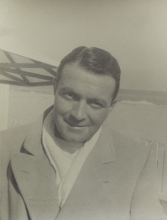 "Portrait photograph of Richard Barthelmess, ""Richard Barthelmess at Malibu"" Richard Barthelmess, Carl Van Vechten."