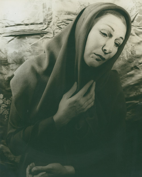 "Portrait photograph of Judith Anderson as Mary in ""Family Portrait"" Judith Anderson, Carl Van Vechten."