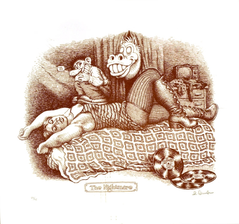 The Nightmare [Original signed print]. R. Crumb.