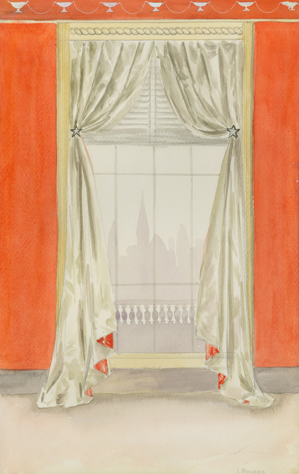 [Collection of 20 Designs for Curtains and Window Treatments]. Interior Decoration, I. Bockes.
