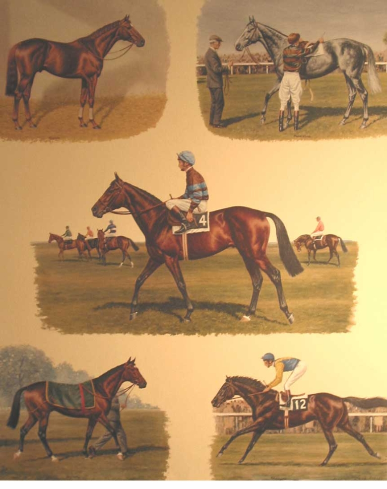 Color Print: The Five Greatest I Ever Rode-Lester Piggott, Featuring: Petite Étoile, Sir Ivor, Crepello, Rheingold, Nijinsky. Richard Stone Reeves.