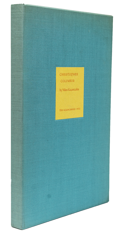 Christopher Columbus. Allen Press, Nikos Kazantzakis.