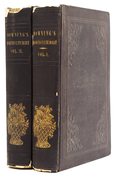The Horticulurist and Journal of Rural Art and Rural Taste. Devoted to Horticulture, Landscape Gardening, Rural Architecture, Botany, Pomology, Entomology, Rural Economy, &c. Volumes I & II. [Spine title:] Downing's Horticulture. A. J. Downing.