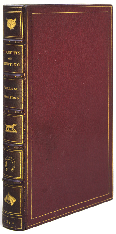 Thoughts on Hunting. William Beckford, sic, i e. Peter.