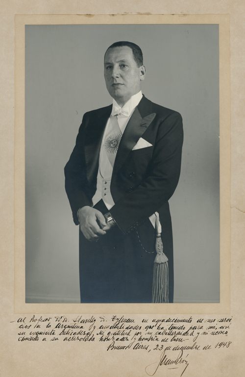 Portrait Photograph of Juan Péron in his first term of office as President. Argentina.