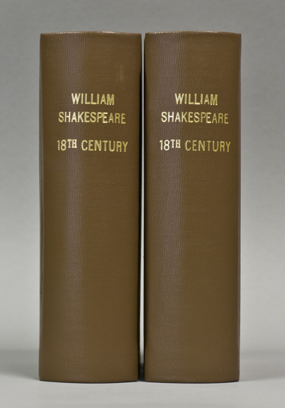 [Works] Plays, including: Troilus and Cressida; First Part of King Henry VI; Second Part of King Henry VI; Third Part of King Henry VI; The Gentlemen of Verona; Timon of Athens, Pericles, Cymbelline, Coriolanus, The Winter's Tale, Measure for Measure...accurately printed from the text of Steevens' Last Edition. William Shakespeare.