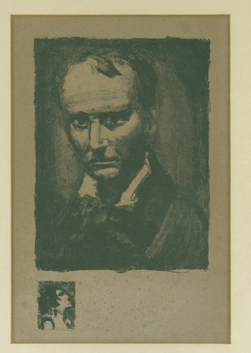 Portrait of Charles Baudelaire. Charles Baudelaire, Georges Rouault.