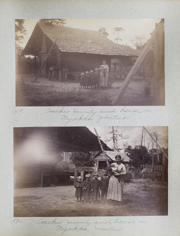 Album of 63 photographs of Outdoor Scenes in the Myakka Frontier, Peace River, and Fort Myers regions of Florida. Florida.
