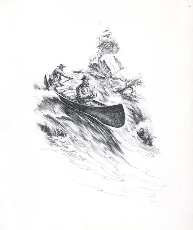 Original drawing for The Happy End : to illustrate the