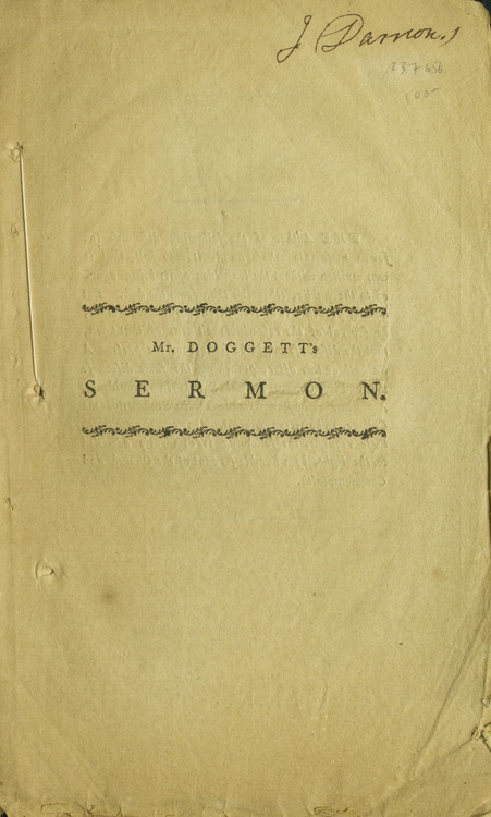Concerning the Way to Eternal Life. A Discourse, Preached to the Congregational Society in Norton, on the Third Sabbath in MArch; and Also to the First Congregational Society in Providence, on the First Sabbath in April, A.D. 1796. And to a Few Other Societies. Simeon Doggett.