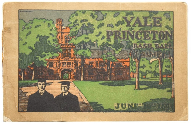Official Souvenir Score Card of the Yale-Princeton Baseball Game. University Field. Saturday June 10, 1899. Baseball.