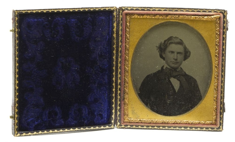 Ambrotype of young man