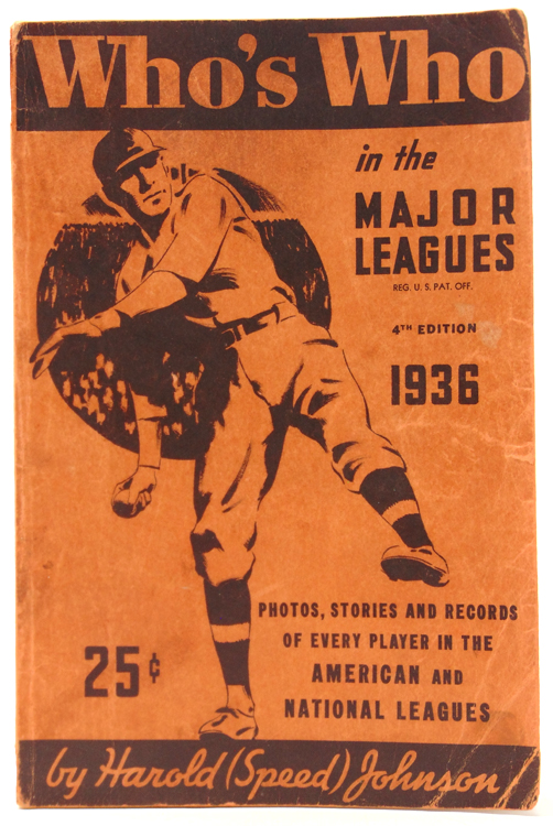 Who's Who in Major Leagues (1936 Edition). Harold Johnson, Speed.