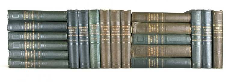 Household Words (19 Volumes) including a last Volume Selection from Household Words , James Miller, N.Y.(last issue dated May, 28, 1859). Charles Dickens.