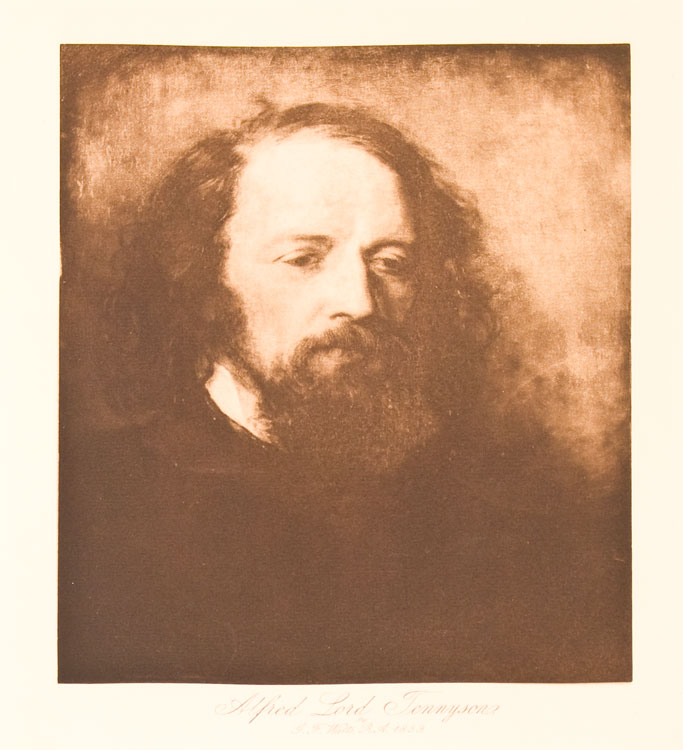 Alfred, Lord Tennyson, 1859. Watts, eorge, rederick.