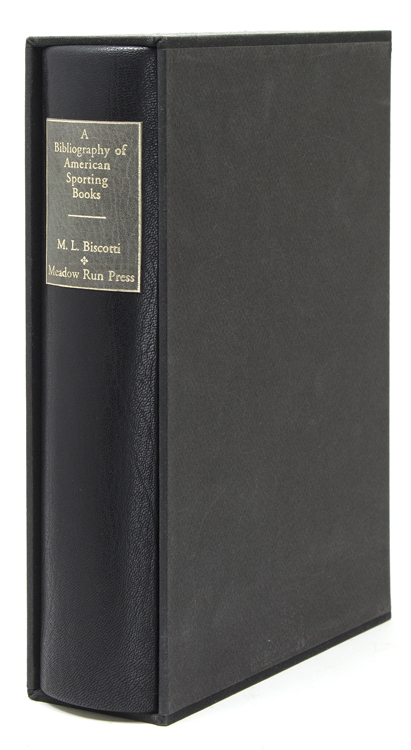 A Bibliography of American Sporting Books, 1926-1985. Foreword by Gene Hill. Meadow Run Press, M. L. Biscotti.