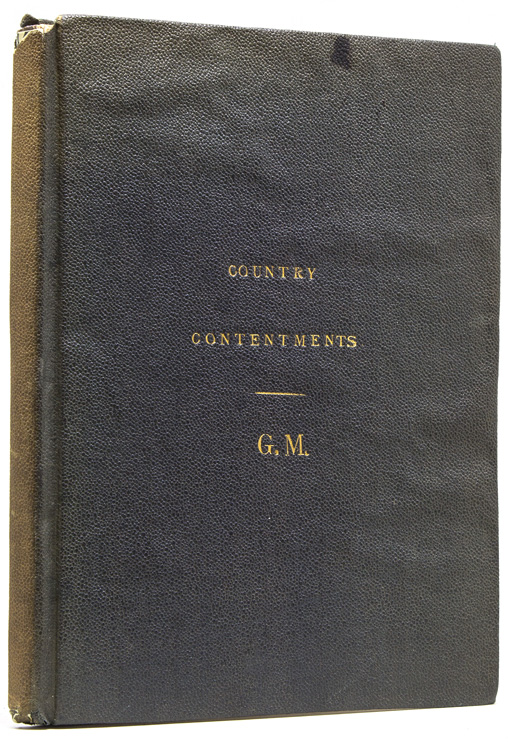 Country Contentments: or, The Husbandmans Recreations. Contayning the wholesome Experiences, in which any man ought to Recreate himselfe after the toyle of more serious Businesse. As namely, Hunting, Hawking, Coursing with Grey-hounds and the lawes of the Lease, Shooting in Long-bowe or Cross-bowe, Bowling, Tennis, Baloone. The whole Art of Angling, and the use of the Fighting Cocke. By G M. Gervase Markham.