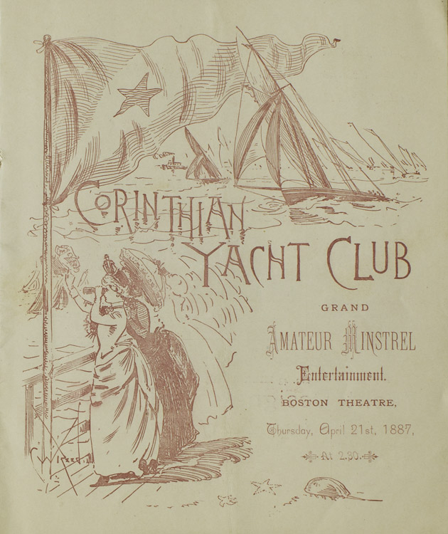Corinthian Yacht Club Grand Amateur Minstrel. YACHTING.