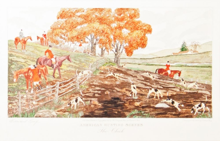 American Hunting Scenes. The Check. Foxhunting, Edward King.