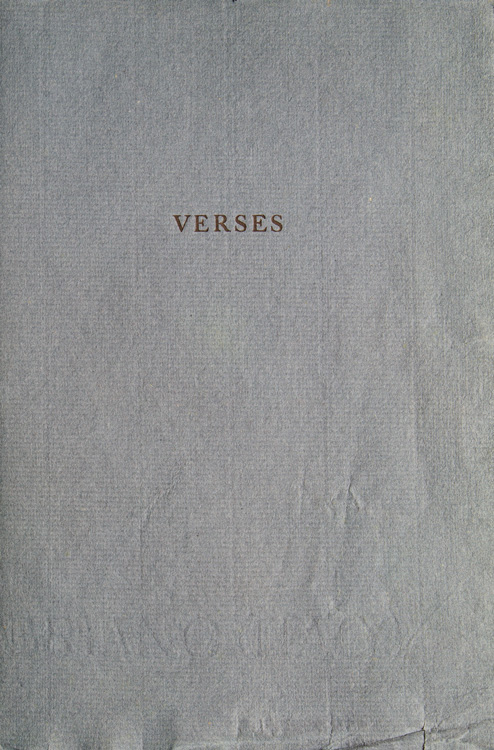 Verses. By R.L.S. Note by Luther S. Livingston. Stevenson.