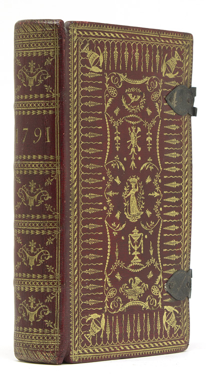The Royal Kalendar; or Complete and Correct Annual Register for England, Scotland, Ireland, and America, for the Year 1791 … [second title:] Rider's British Merlin for … 1791. English BINDING, Cardanus Rider.