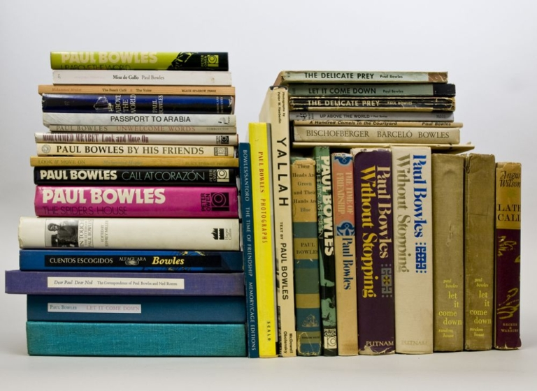 Collection of 31 books inscribed by Paul Bowles to his friend, composer Phillip Ramey. Paul Bowles.