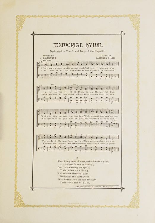 Memorial Hymn. Dedicated to the Grand Army of the Republic. J. A. Gardner.