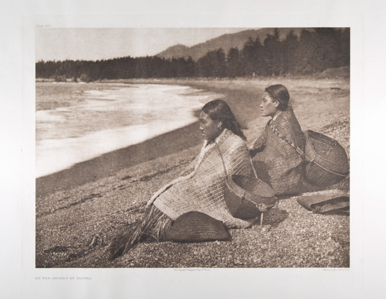"""On the Shores at Nootka"". Edward Curtis."