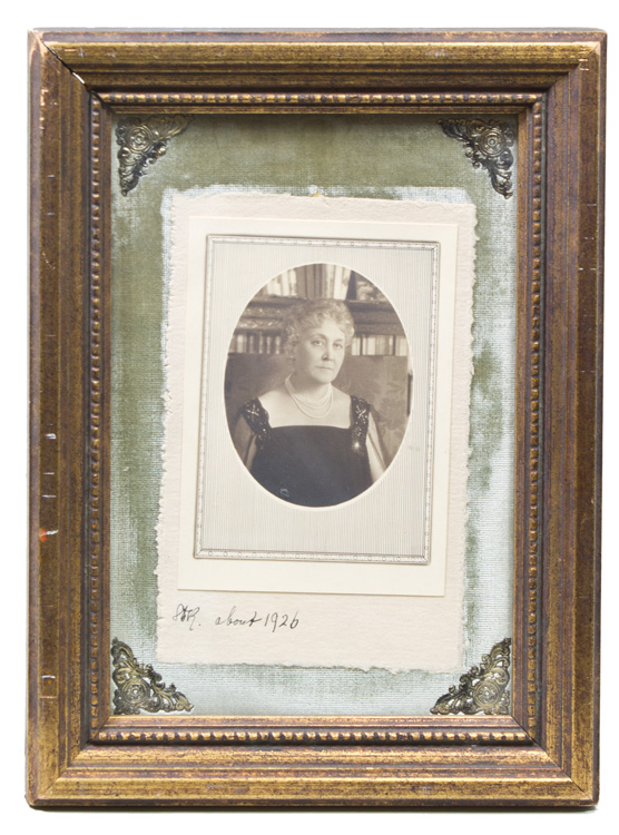 """Photograph of Sara Roosevelt, docketed in Elaeanor Roosevelt's hand """"SDR about 1926"""" Sara Roosevelt."""