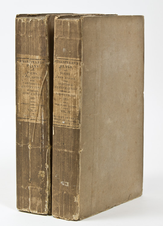 The Plays and Poems With the Corrections and Illustrations of Various Commentators: Comprehending A LIFE OF THE POET, and an Enlarged History of the Stage, by the Late Edmond Malone. With a New Glossarial Index. William Shakespeare.