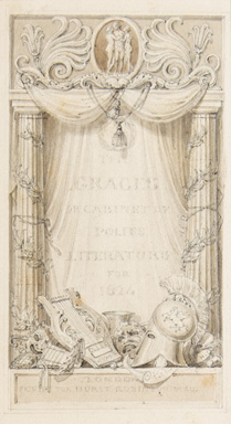 Bound album of 34 drawings (20 by Corbould, 14 by Uwins). Henry Corbould, Thomas UWINS.