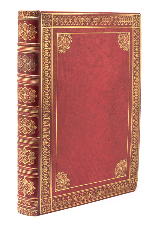 Commonplace book of original drawings, engravings and transcribed poetry. Comte de Caumont Binding.