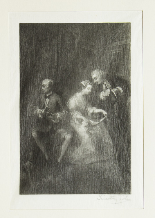 Wood Engraving: Marriage a la Mode. Timothy Cole.