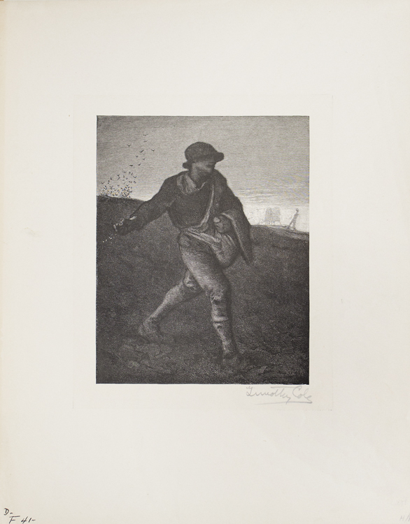 Wood Engraving: The Sower. Timothy Cole.
