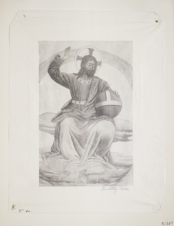 Wood Engraving: Christ and the World. Timothy Cole.