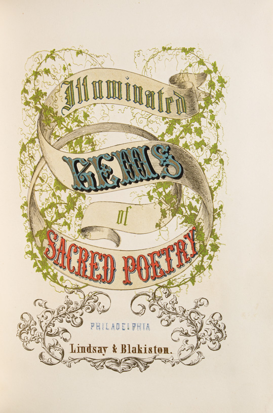 The Illustrated Gems of Sacred Poetry. Chromolithography.