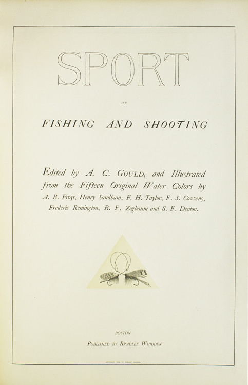 Sport or Fishing and Shooting. Arthur Corbin Gould.