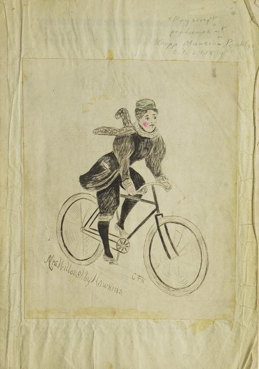 """The Bicyclers. A Farce"" produced as ""Curtain Raiser at the Knapp Mansion, Feb. 24, 1894"" John Kendrick Bangs."